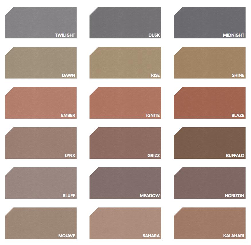 Decorative concrete color palette | Artevia™